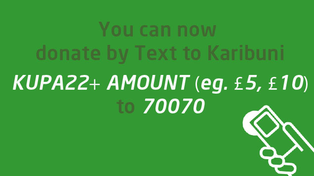 You can now donate to Karibuni by text