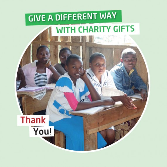 Karibuni charity gifts - Your gift will provide a desk with bench