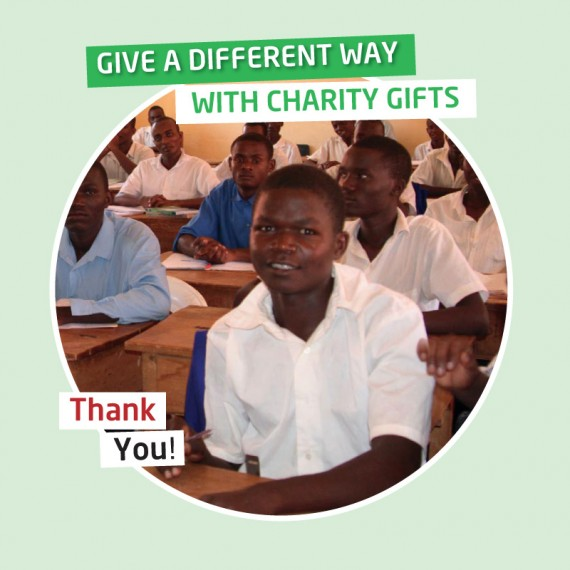 Karibuni charity gifts - Your gift will provide a child's secondary boarding school fees for one year