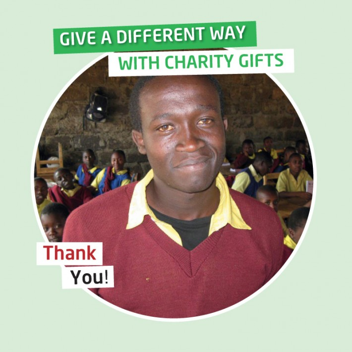 Karibuni charity gifts - Your gift will provide a child's day secondary school fees for one year