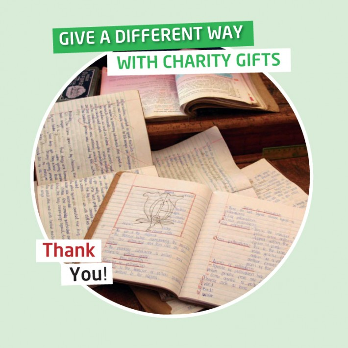 KAribuni charity gifts - Your gift will provide text books for a child for one year