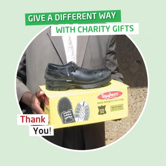 Karibuni charity gifts - Your gift will provide a Primary child's shoes