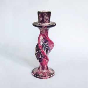 Candle holder stone carving