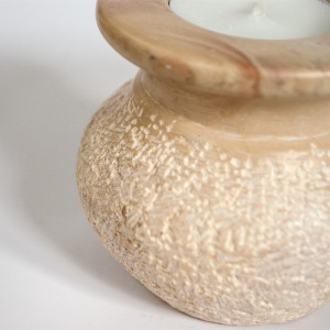 Tea light Candle holder stone carving
