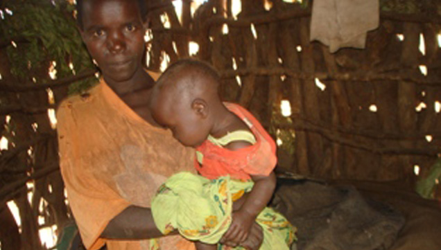 Hunger threatens the lives of children and pregnant mothers.