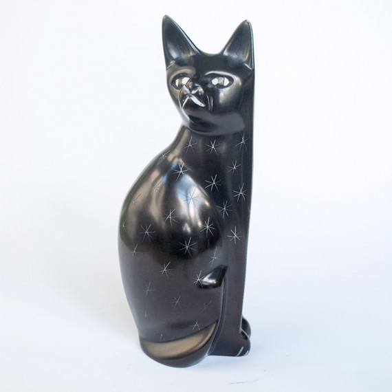 Cat soap stone carving