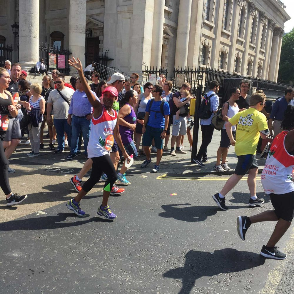 Karibuni Children at London 10 K race
