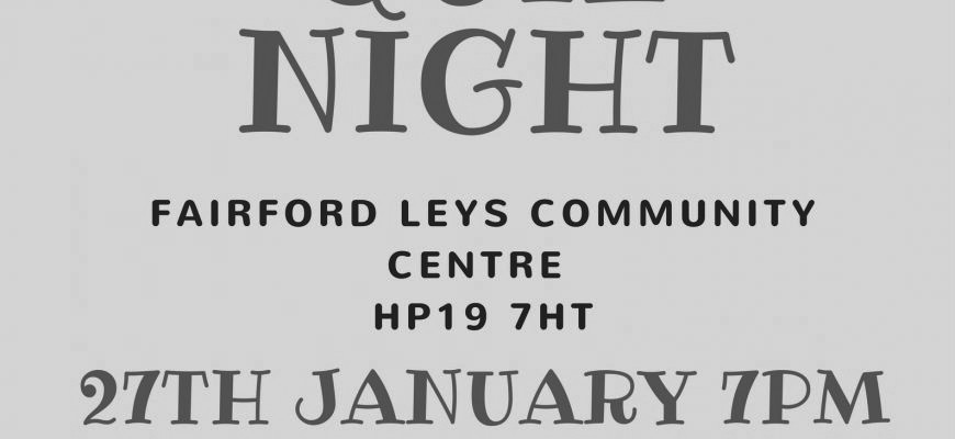 Our Quiz Night is back in 2018!