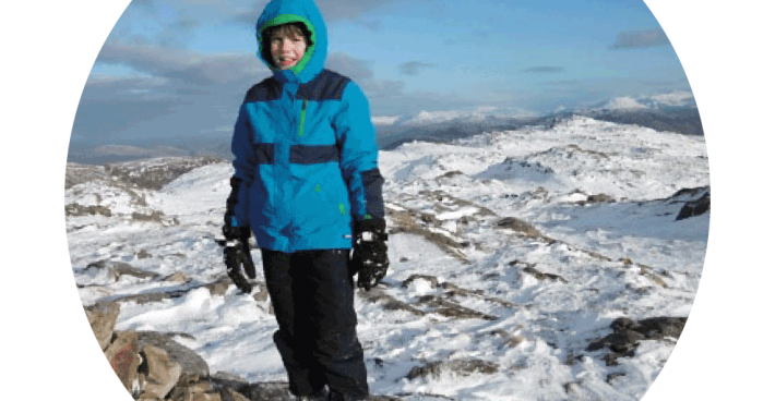 LATEST!  Rowan Purrett, aged twelve, Peak to Peak fundraiser – the penultimate peak!
