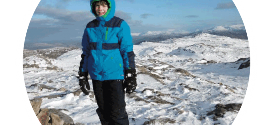 Peak a Week COMPLETE! Rowan Purrett, aged twelve, Peak to Peak fundraiser